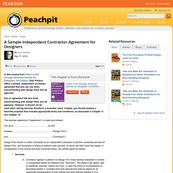 A Sample Independent Contractor Agreement for Designers