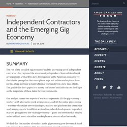 Independent Contractors and the Emerging Gig Economy
