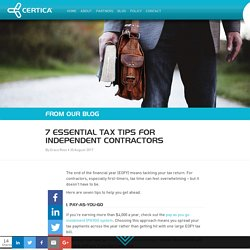 7 Essential Tax Tips for Independent Contractors
