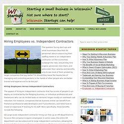 Hiring Employees vs. Independent Contractors