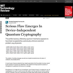 Serious Flaw Emerges In Quantum Cryptography