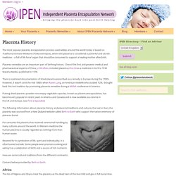 Placenta History - Independent Placenta Encapsulation Network