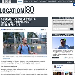 64 Essential Tools for the Location Independent Entrepreneur