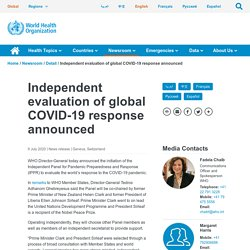 Independent evaluation of global COVID-19 response announced