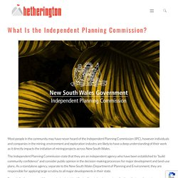 What Is the Independent Planning Commission? - Hetherington