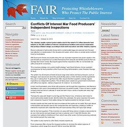 FAIR 22/10/10 Conflicts of interest mar food producers' independent inspections