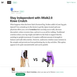 Stay Independent with iWalk2.0 Knee Crutch
