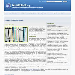 The independent mindfulness information website - Research