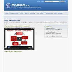 The independent mindfulness information website - What is Mindfulness?