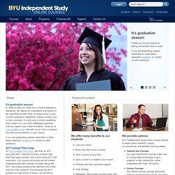 Independent Study - Online Courses