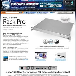 OWC Rack Pro 1U 4-Bay Hardware RAID 0/1/3/5/10/SPAN/Independent FireWire 800/400+USB3+eSATA Performance Solutions