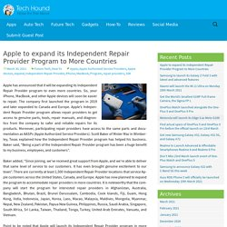 Apple to expand its Independent Repair Provider Program to More Countries