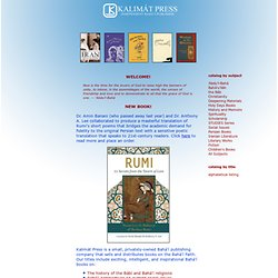 Baha'i books from independent publisher Kalimát Press