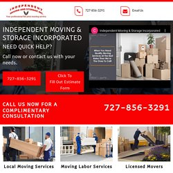Independent Moving & Storage, local moving service Odessa FL