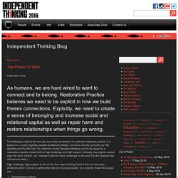 Independent Thinking - Blog