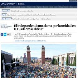 """El independentismo clama por la unidad en la Diada """"más difícil"""""""