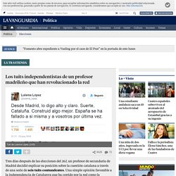 Los tuits independentistas de un profesor madrileño que han revolucionado la red