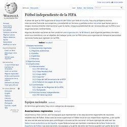 Fútbol independiente de la FIFA