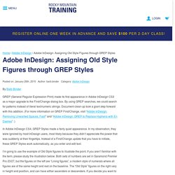 Adobe InDesign: Assigning Old Style Figures through GREP Styles - Rocky Mountain Training