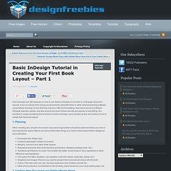 Basic InDesign Tutorial in Creating Your First Book Layout - Part 1