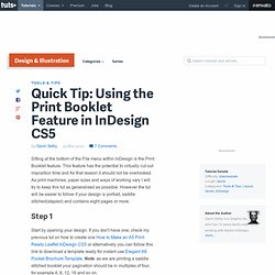 Using the Print Booklet Feature in InDesign CS5