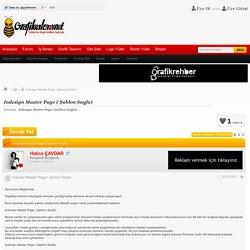 Indesign Master Page ( Şablon Sayfa)