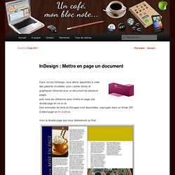 InDesign : Mettre en page un document
