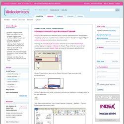 Klik Akademi > Dersler > Grafik Tasarım > Adobe InDesign > InDesign Otomatik Sayfa Numarası Eklemek