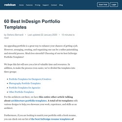 60 Best InDesign Portfolio Templates – Redokun