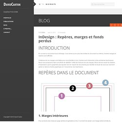 InDesign : Repères, marges et fonds perdus