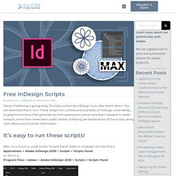 Free InDesign Scripts - Silicon Publishing