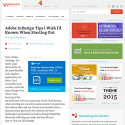 Adobe InDesign Tips I Wish I'd Known When Starting Out - Smashing Magazine