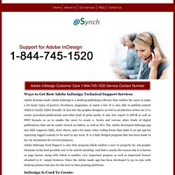 InDesign 1-844-745-1520 Technical Support/Help Number Mac