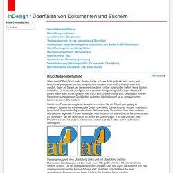 Adobe InDesign * Überfüllen von Dokumenten und Büchern