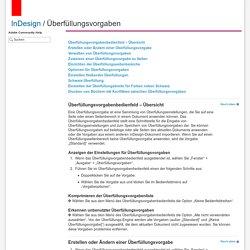 Adobe InDesign * Überfüllungsvorgaben