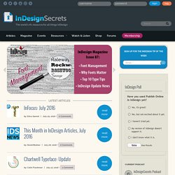 InDesign Secrets: Tutorials, Tips, Templates, Blog, Podcast, and More
