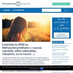 6 bienfaits du MSM ou Méthylsulfonylméthane (+ sources naturelles, effets indésirables, indications, où en trouver...)