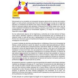 Gramática cognitiva e instrucción de procesamiento para la enseñanza de la selección modal