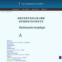 Dictionnaire sceptique