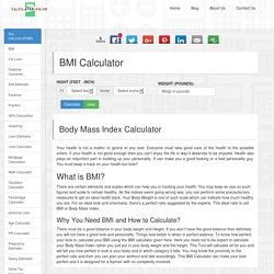 Body Mass Index (BMI) - Calculator - Calculate your BMI