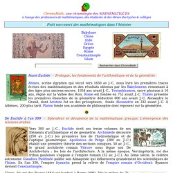 Index Chronologique