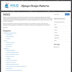 Index — Django Design Patterns