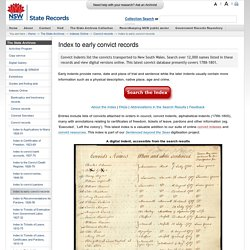 Index to early convict records