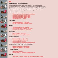 Index of Fashion Doll Shoes Tutorials
