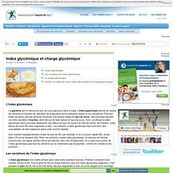 Index glycémique et charge glycémique