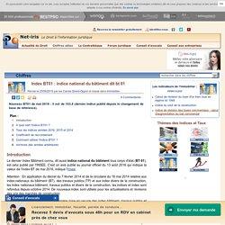 Index BT01 : indice national du bâtiment dit bt 01