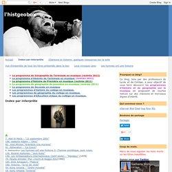 l'histgeobox: Index par interprète