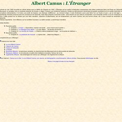 Index - L'Etranger - Albert Camus
