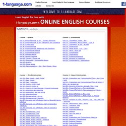 Online English Course - Index Page