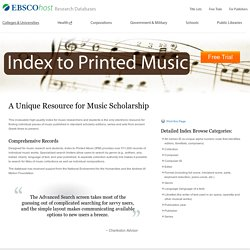 Index to Printed Music (IPM)